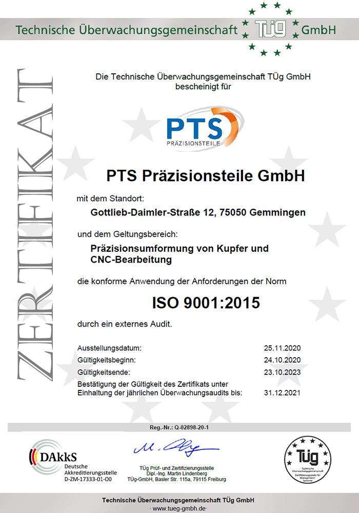 ISO zertifizierter Hersteller von Kupferbauteilen
